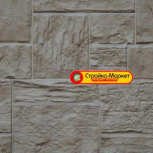 53333 Фасадные панели Дачный — Туф, 3D Светло — бежевый