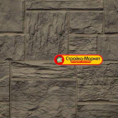 Фасадные панели Дачный — Туф, 3D Дымчатый